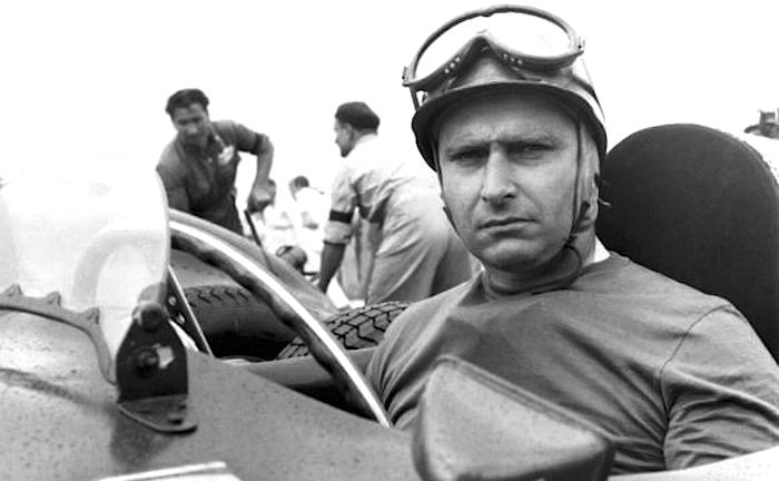 Juan Manuel Fangio In A Ferrari Around 1951